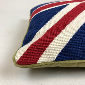 Union Jack Flag Gross Point Pillow
