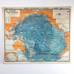 "Vintage School Map ""Ocean Pacifique"""
