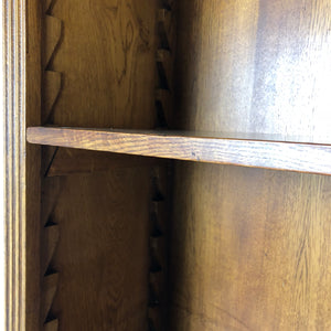 English Oak Replica File Credenza