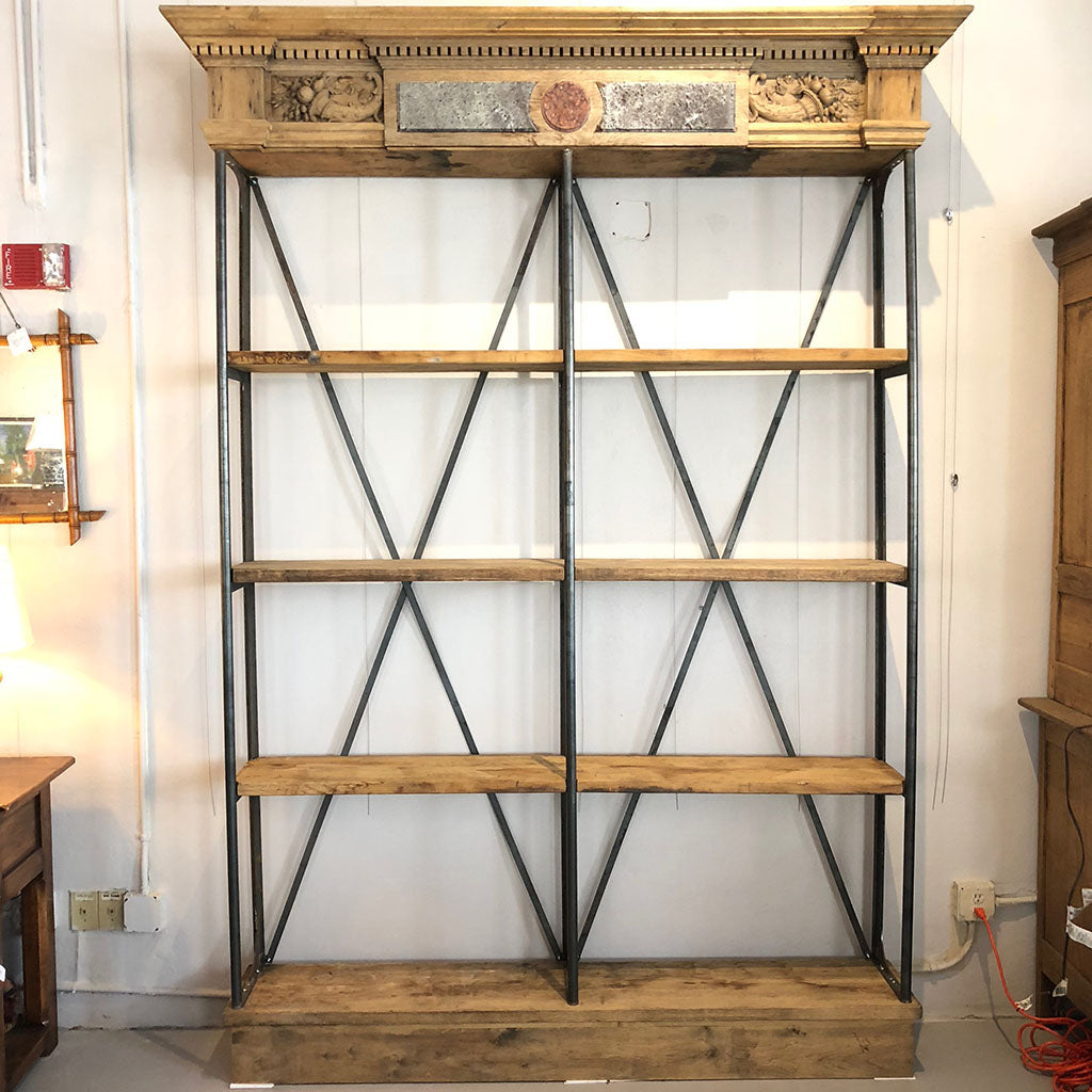French Modified Mantle Bookcase c1880