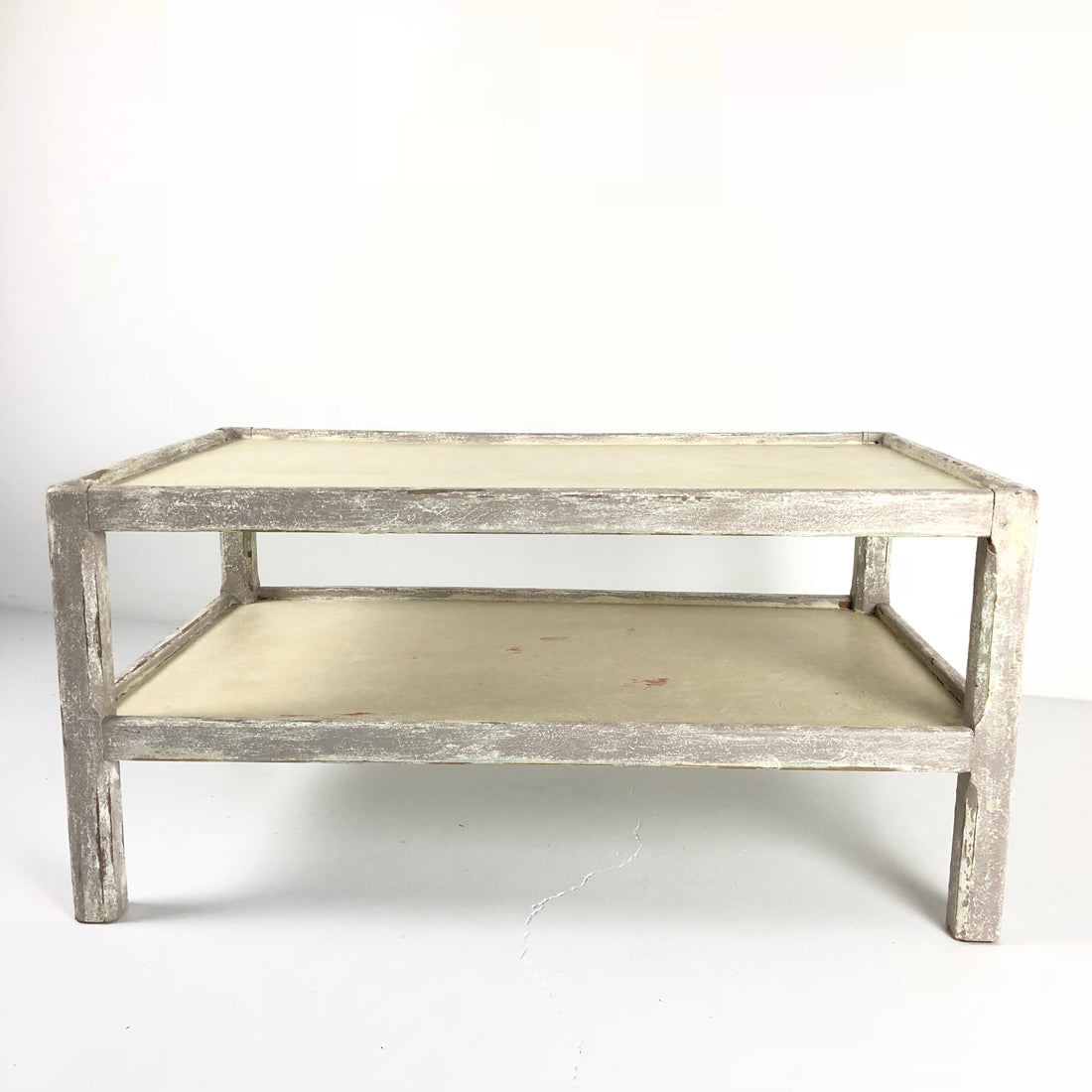 Vintage Painted Coffee Table with Shelf
