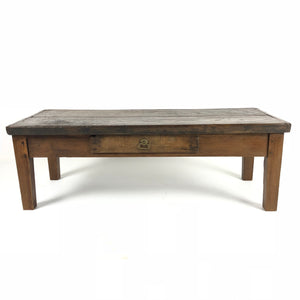 French Rustic Coffee Table c1870