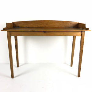 English Antique Pine Galley Back Server c1880