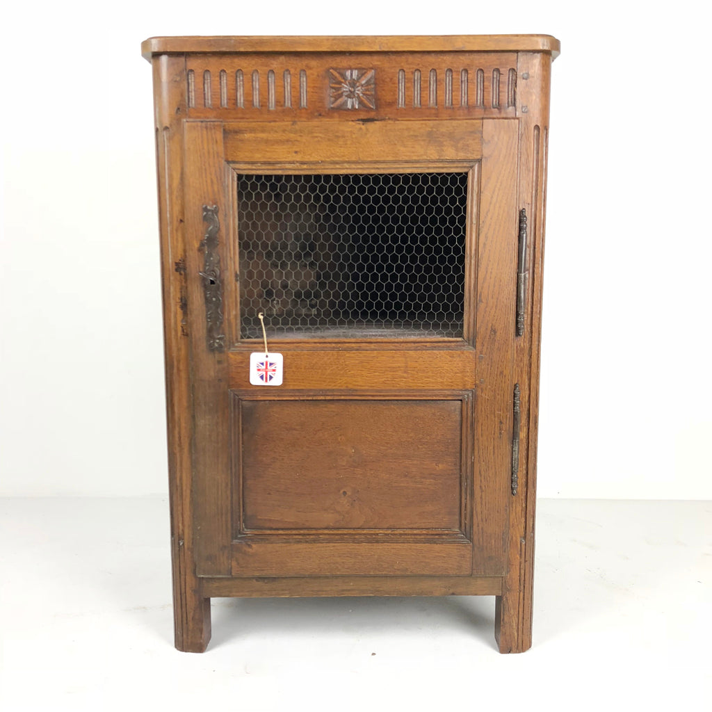 French Antique Small Single Door Cupboard c1880