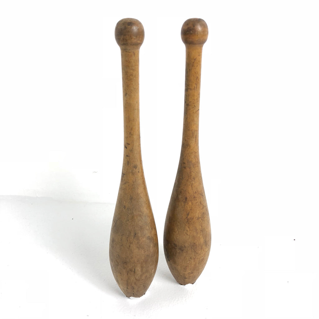 Antique Wooden Indian Clubs c1900