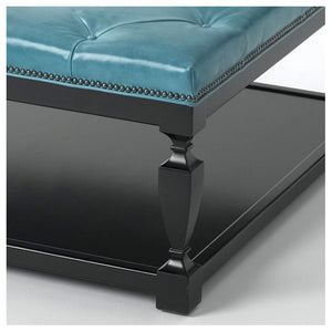 Spencer Leather Ottoman