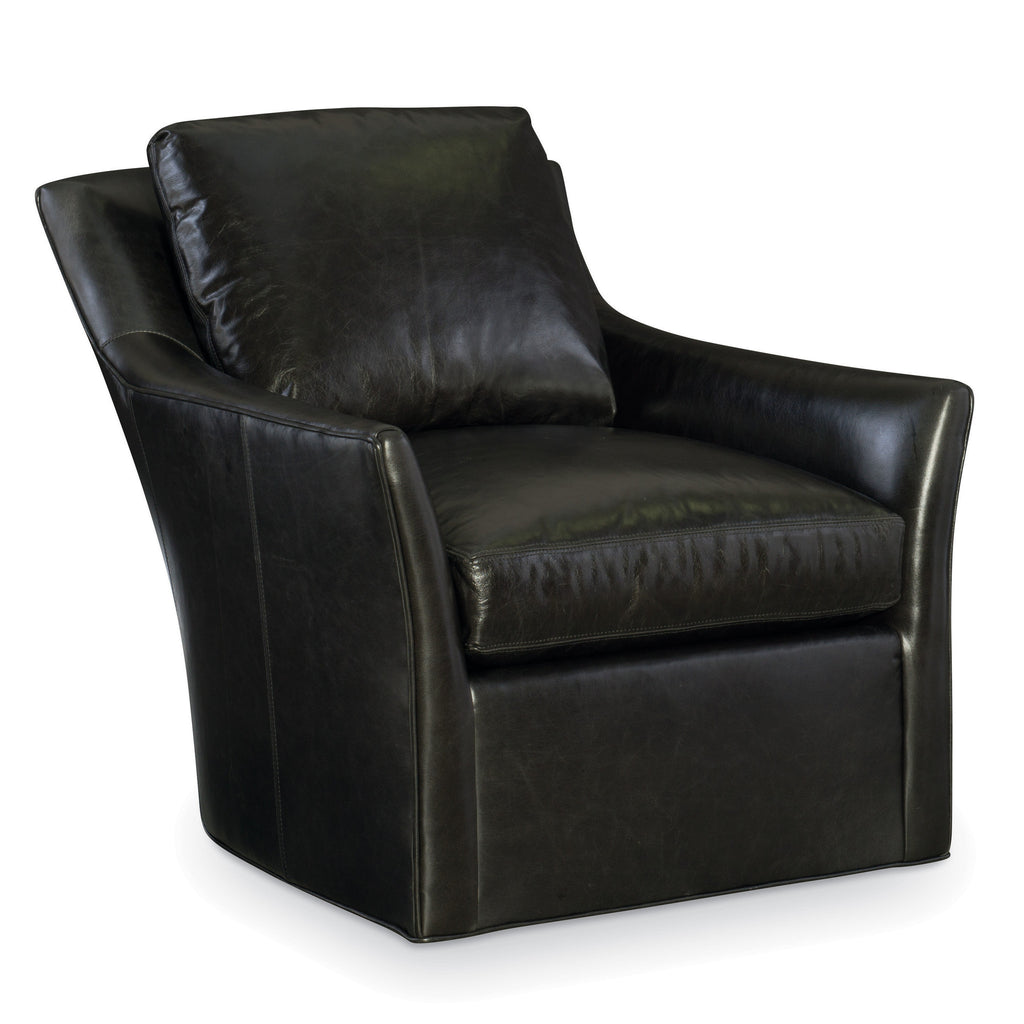 Studio Leather Swivel Chair