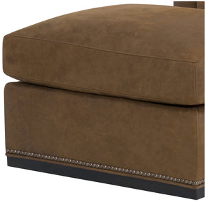 Houston Leather Ottoman