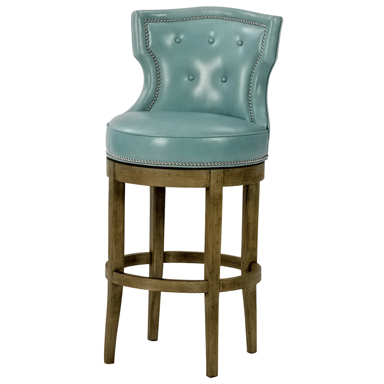 Charlotte Leather Bar Stool