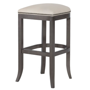 Clara Leather Bar Stool