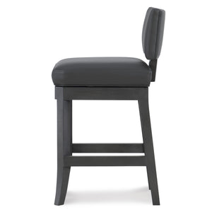 Abbey Leather Counter Stool