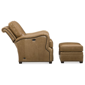 Crawford Leather Tilt Back Chair