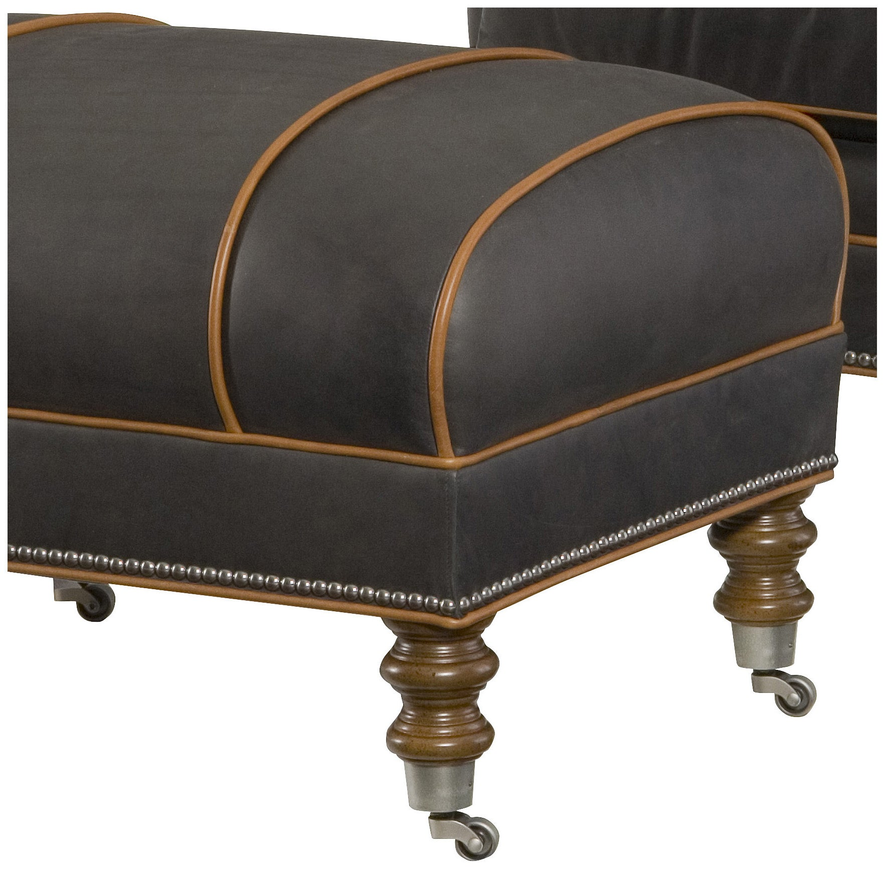 Hartwell Leather Ottoman