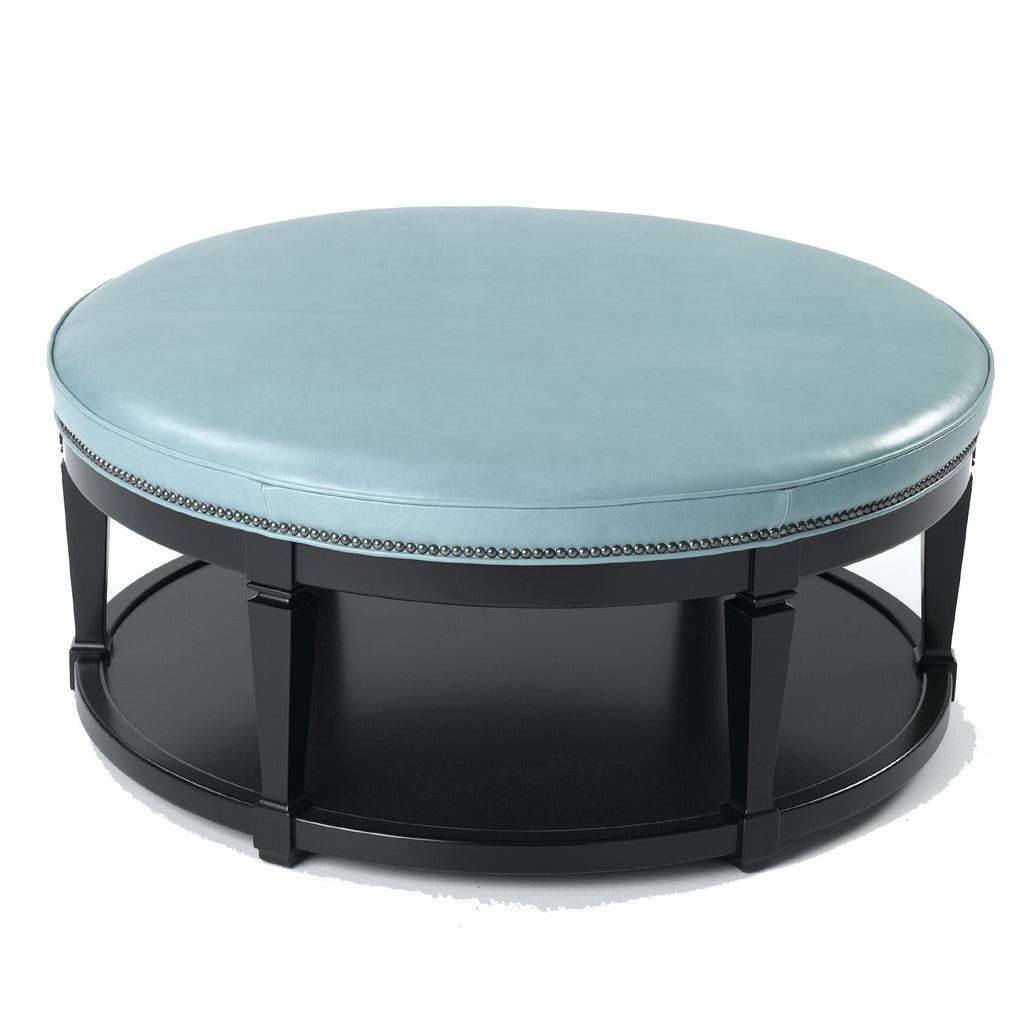 Carrie Leather Table Ottoman