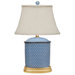 English Blue & White Porcelain Jar Lamp with Gilded Base