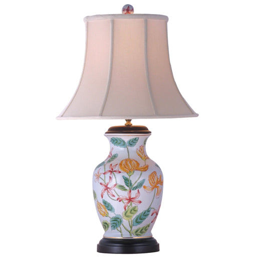 Tropical Oasis Floral Vase Lamp