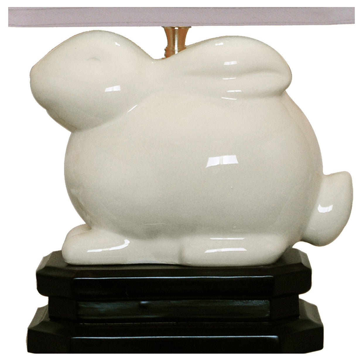 Ivory Porcelain Bunny Table Lamp