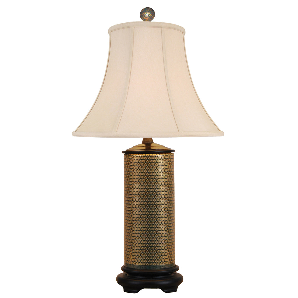 Gold French Porcelain Table Lamp