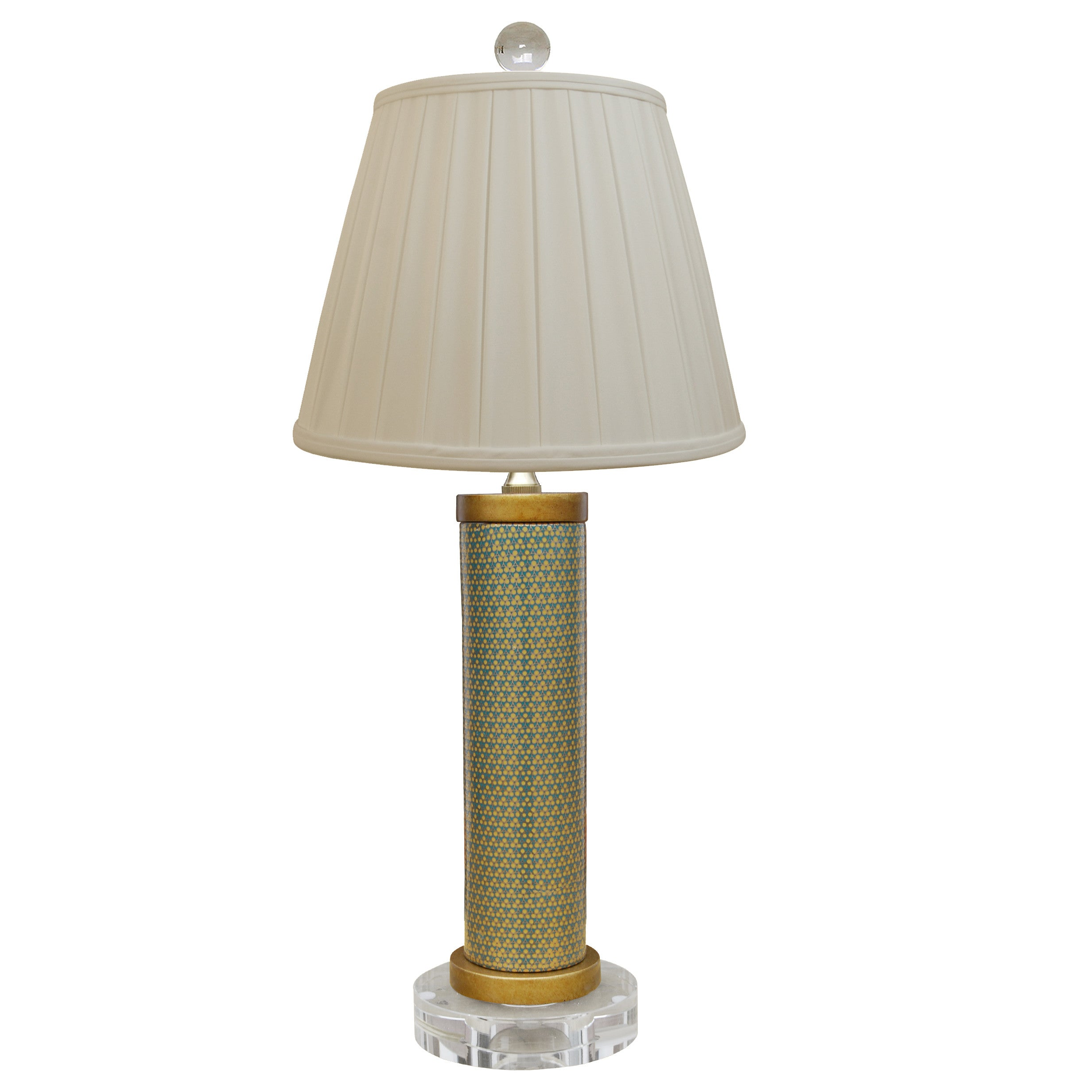 Gold French Lamp with Crystal Base