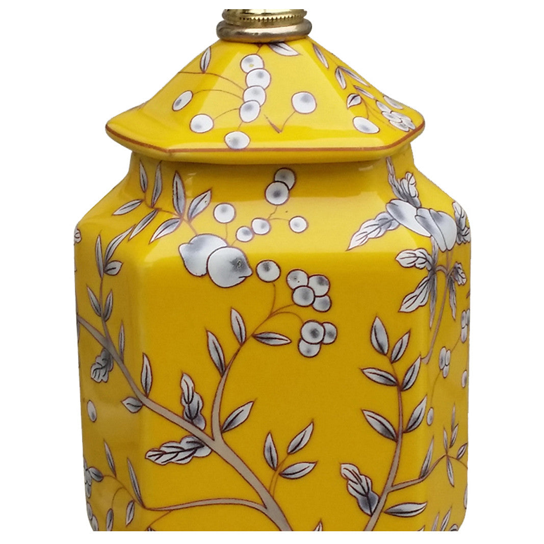 Yellow Porcelain Mini Jar Lamp