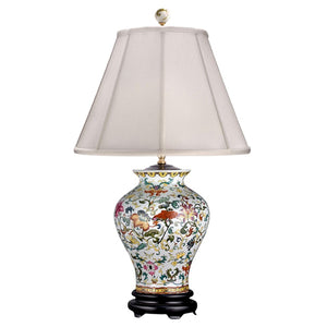 Orford Multi-Colored Porcelain Vase Lamp