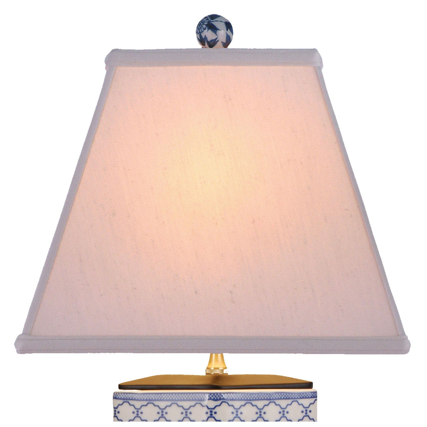 Rhombic Blue & White Porcelain Table Lamp