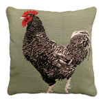 Maran Chicken Needlepoint Pillow