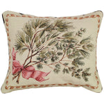 Greenery Needlepoint Pillow