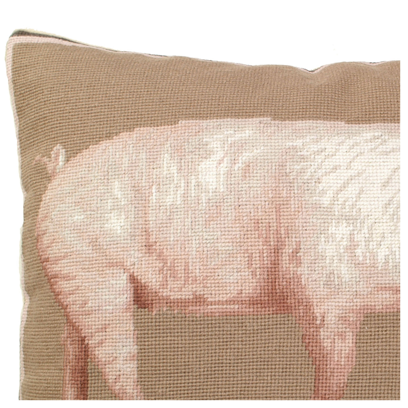 American Yorkshire Needlepoint Pillow