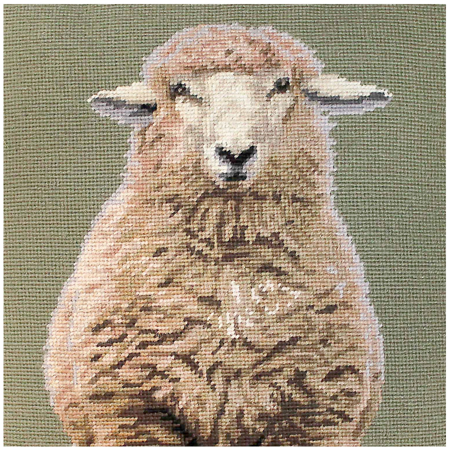 Standing Sheep Needlepoint Pillow