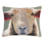Sheep Face Needlepoint Pillow