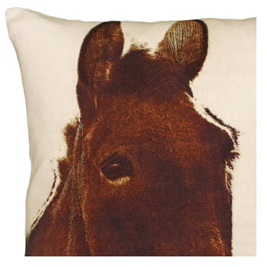 Ely Donkey Printed Pillow