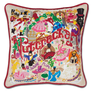 Nutcracker Hand-Embroidered Pillow