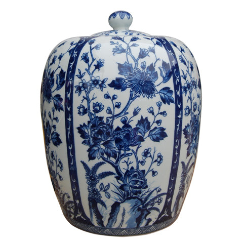 Budding Tree Blue & White Ginger Jar