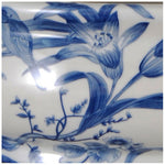 Paradise Birds Blue & White Porcelain Footbath with Base