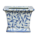Blue & White Bamboo Square Porcelain Cachepot