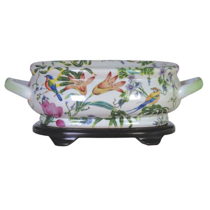 Lily Porcelain Footbath with Base