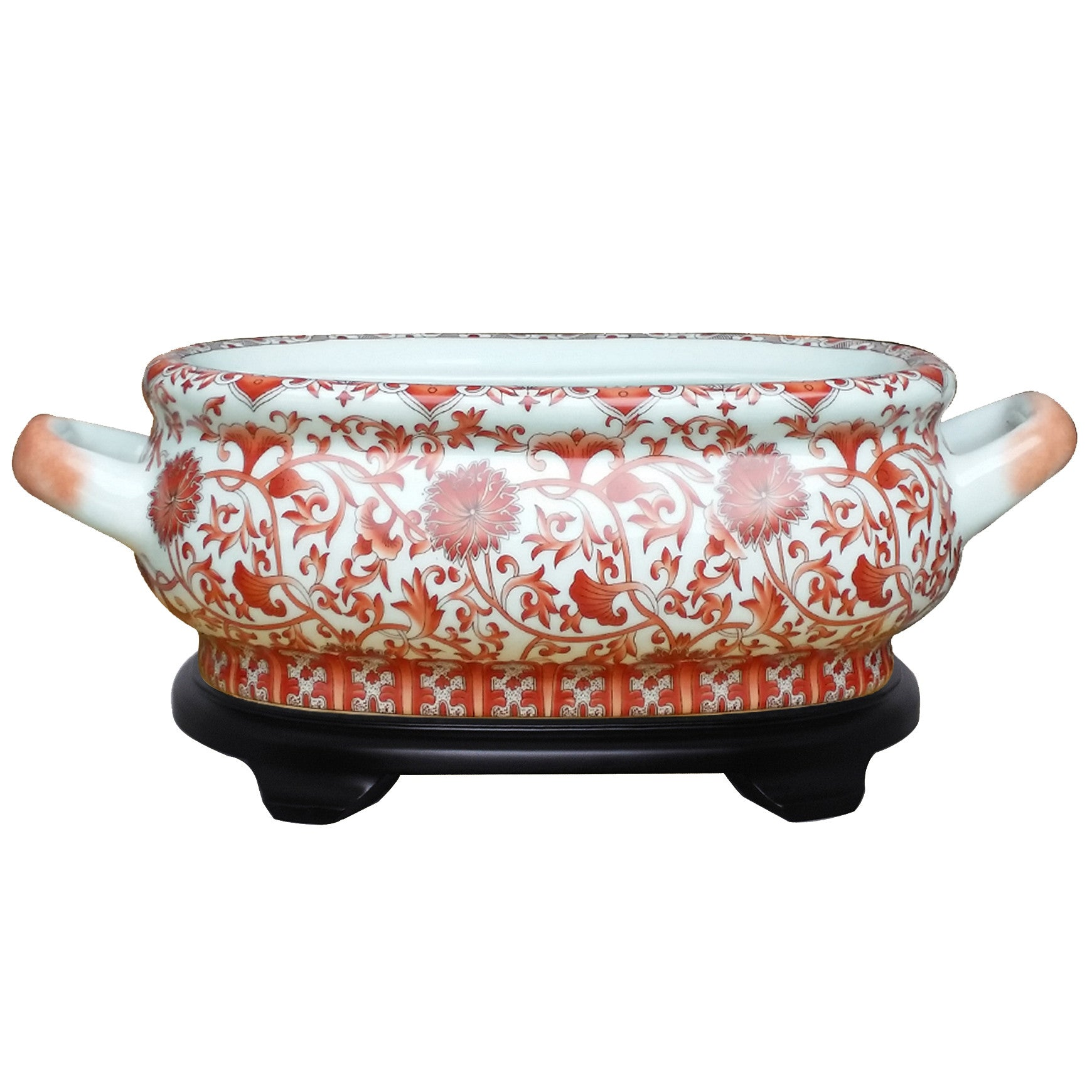 Coral Porcelain Footbath with Base