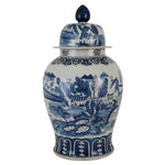 La Ciudad Blue & White Porcelain Canton Temple Jar