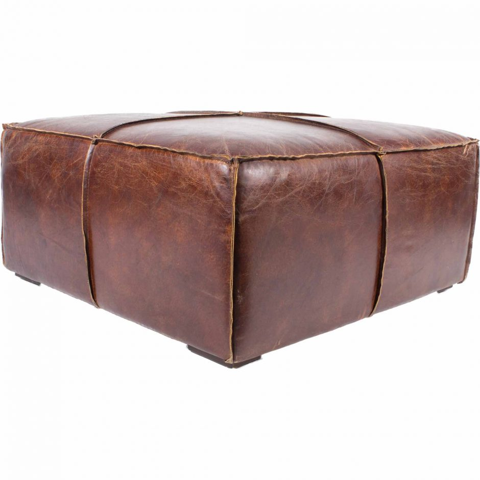 Stamford Distressed Leather Coffee Table