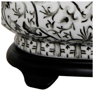 Black and White Porcelain Footbath with Base