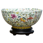 Orford Multi-Colored Porcelain Bowl with Base