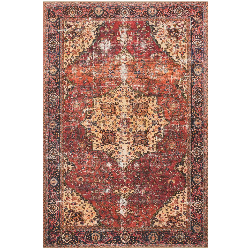 Red & Navy Loren Rug