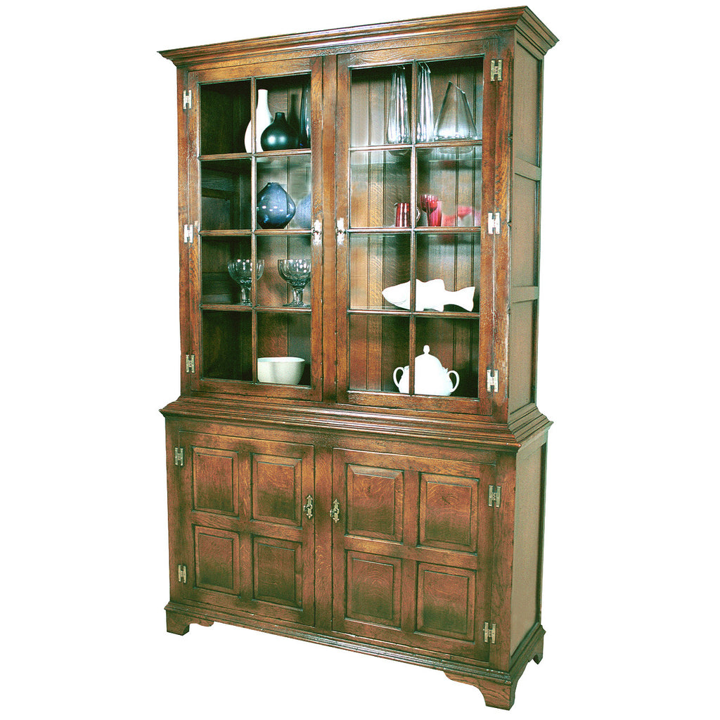 Pepys Cabinet with Glass Shelves and Inside Lights