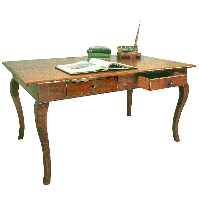Large Writing Desk with Cabriole Legs