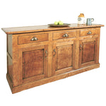 Chamfered Sideboard with 3 Cupboards and 3 Drawers