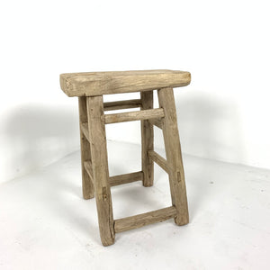 Antique Rustic Country Stool / Side Table