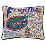 University of Florida Collegiate Embroidered Pillow
