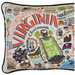 University of Virginia Collegiate Embroidered Pillow