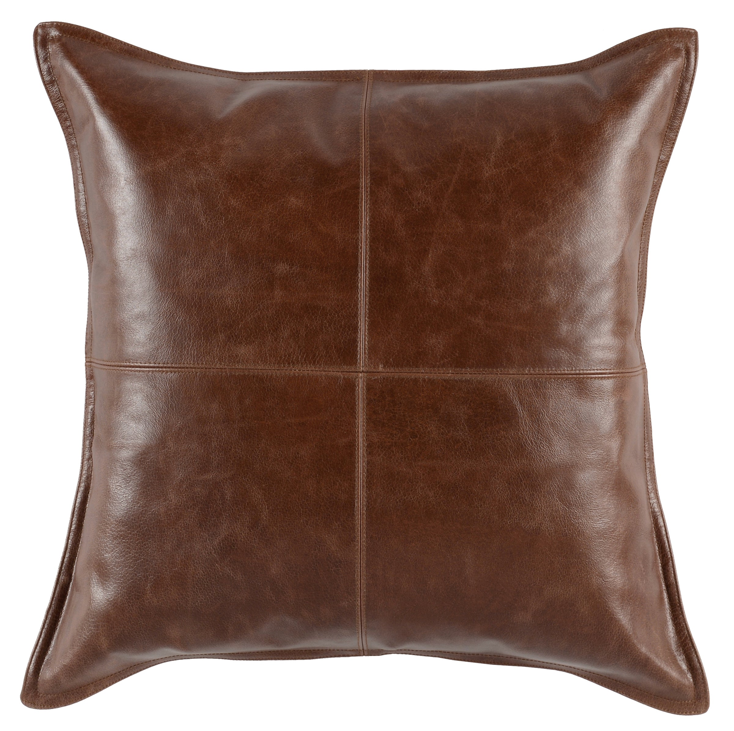 "Leather Kona Brown 22"" Pillow"
